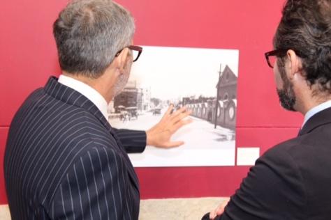 Marco Bracamontes with Ambassador Diego Gomez Pickering